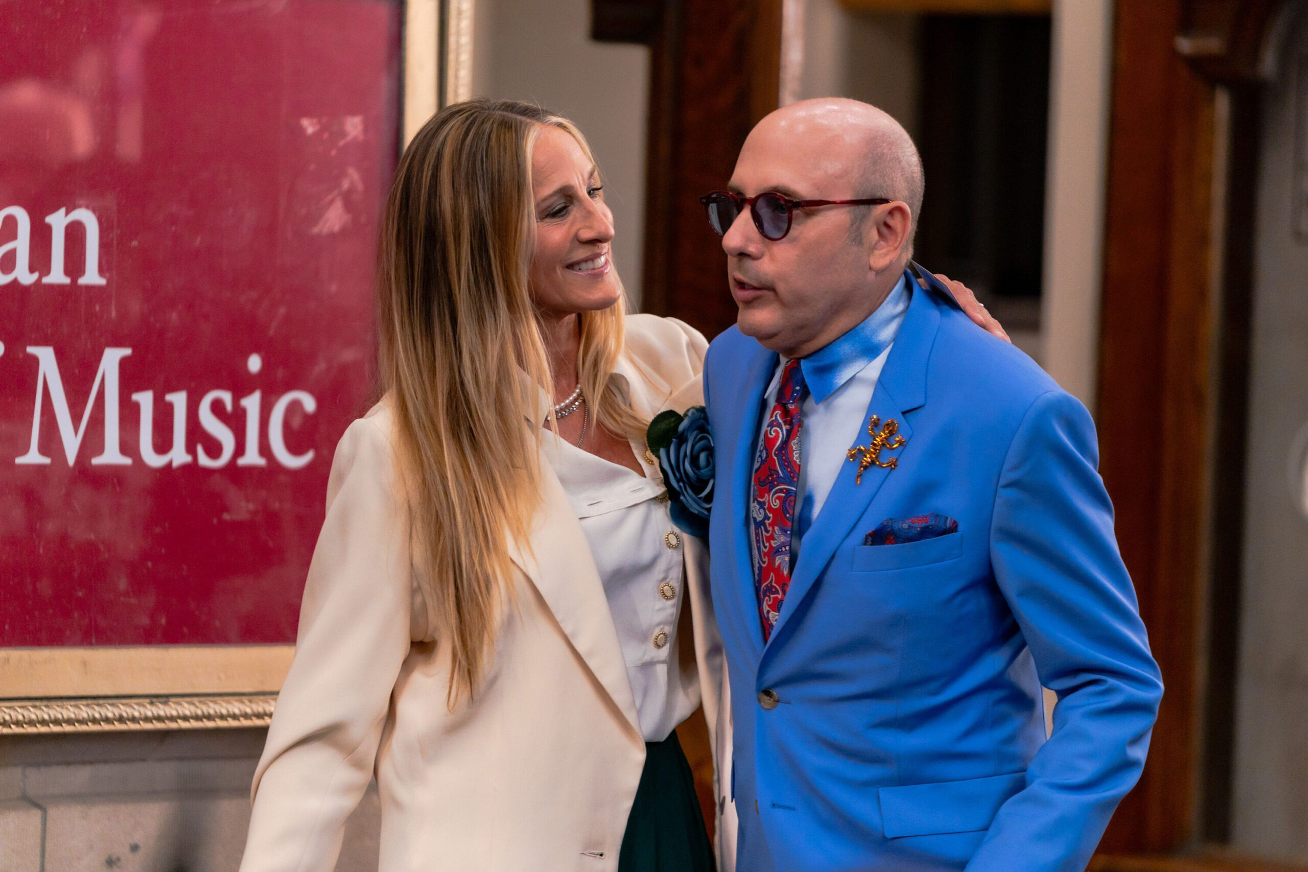 <i>Gotham/GC Images/Getty Images</i><br/>Sarah Jessica Parker and Willie Garson are seen filming