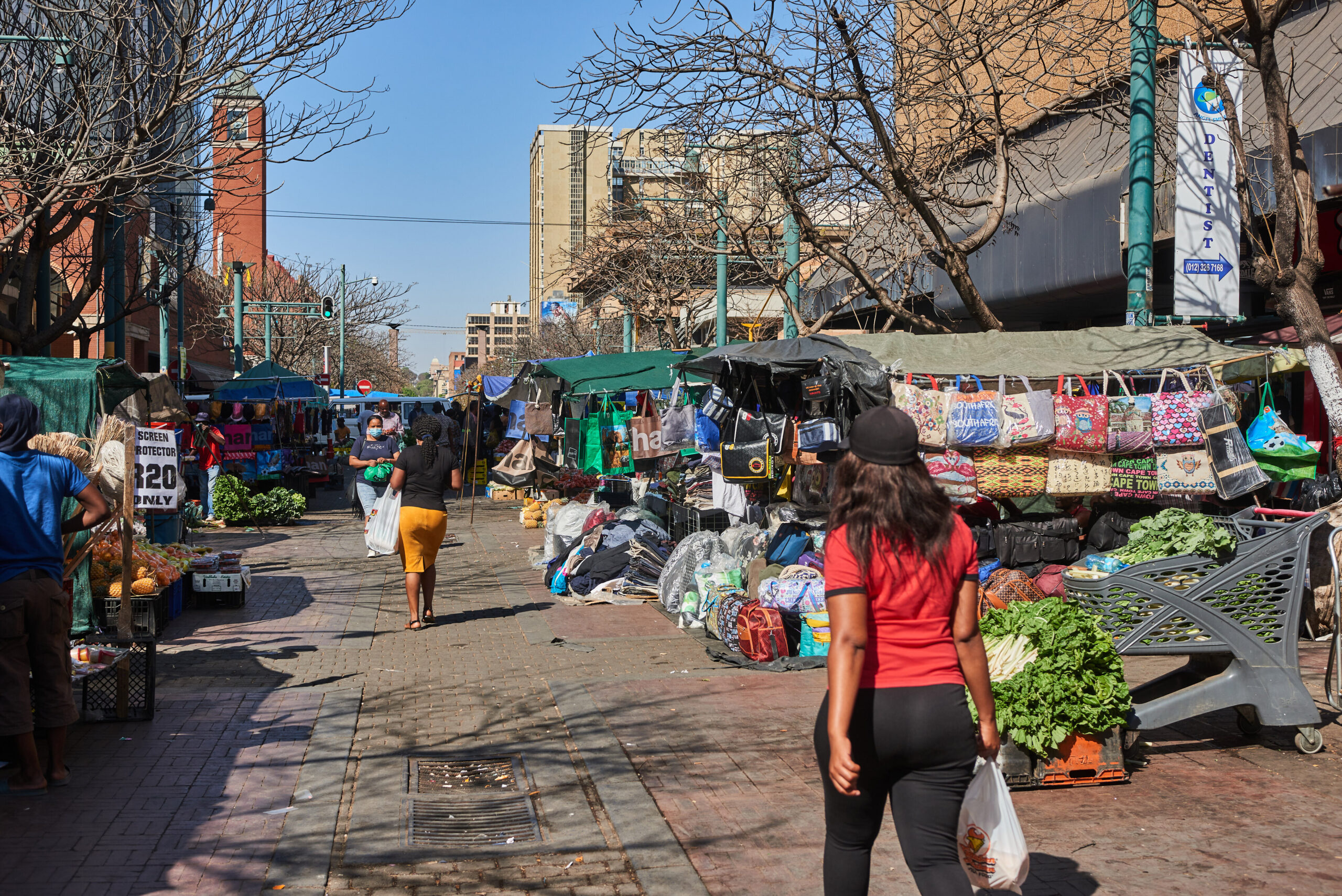 <i>Waldo Swiegers/Bloomberg/Getty Images</i><br/>Shoppers in a market in the central business district of Pretoria