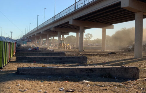 CNN obtained new images from under the Del Rio International Bridge