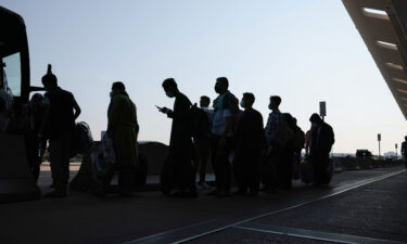People who were evacuated from Kabul