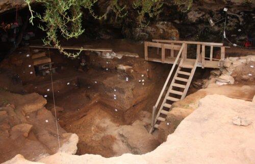 Entrance to Contrebandiers Cave
