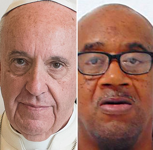 Pope Francis and Missouri death row inmate Ernest Johnson.