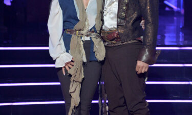 """Brian Austin Green and Matt James were both sent home during the Disney-themed week on """"Dancing With the Stars."""" Sharna Burgess and Brian Austin Green are shown here on the show."""