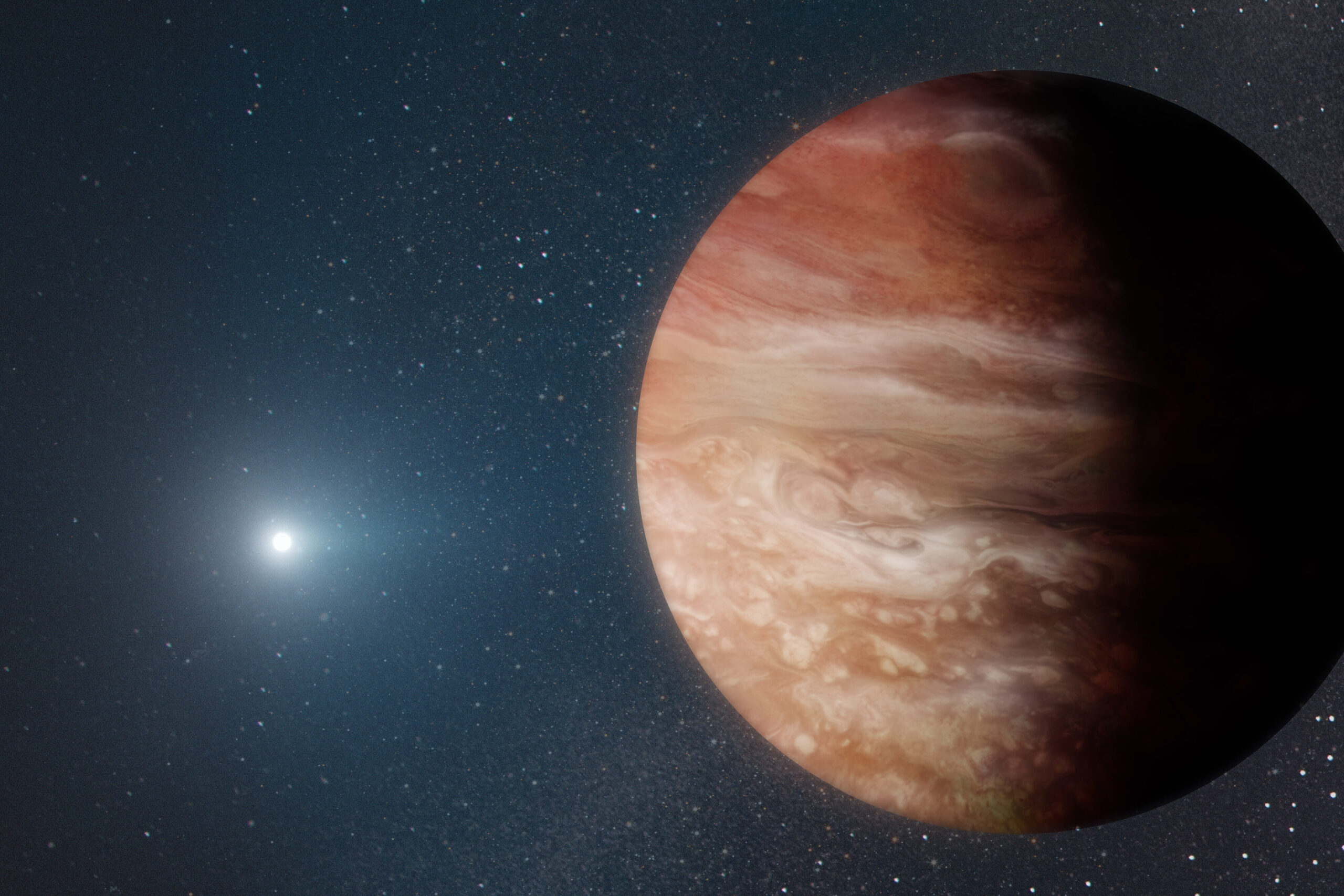 <i>Adam Makarenko/W. M. Keck Observatory</i><br/>The discovery of a distant Jupiter-like planet orbiting a dead star reveals what may happen in our solar system when the sun dies in about 5 billion years