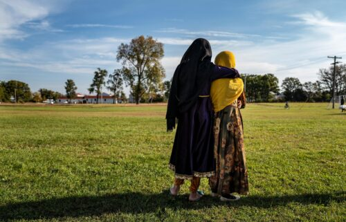 44% of Afghan refugees housed temporarily at eight US military bases are children
