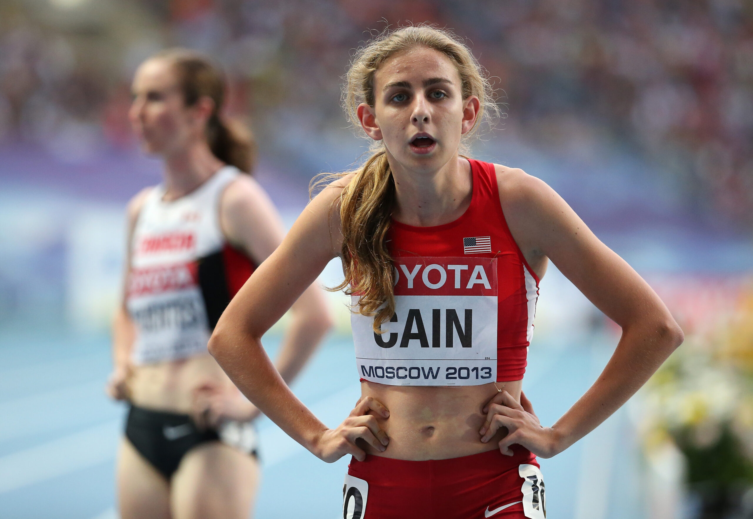 <i>Christian Petersen/Getty Images Europe/Getty Images</i><br/>Mary Cain after the women's 1