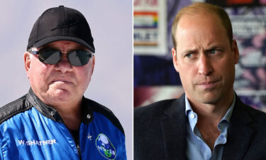 William Shatner (L) is firing a rhetorical rocket back at Prince William (R) after the future king criticized space tourism.