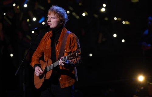 Ed Sheeran performing on stage October 17