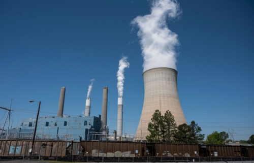 The United States is among G20 countries falling short of keeping their climate promises. Pictured is a coal-fired power plant in Adamsville