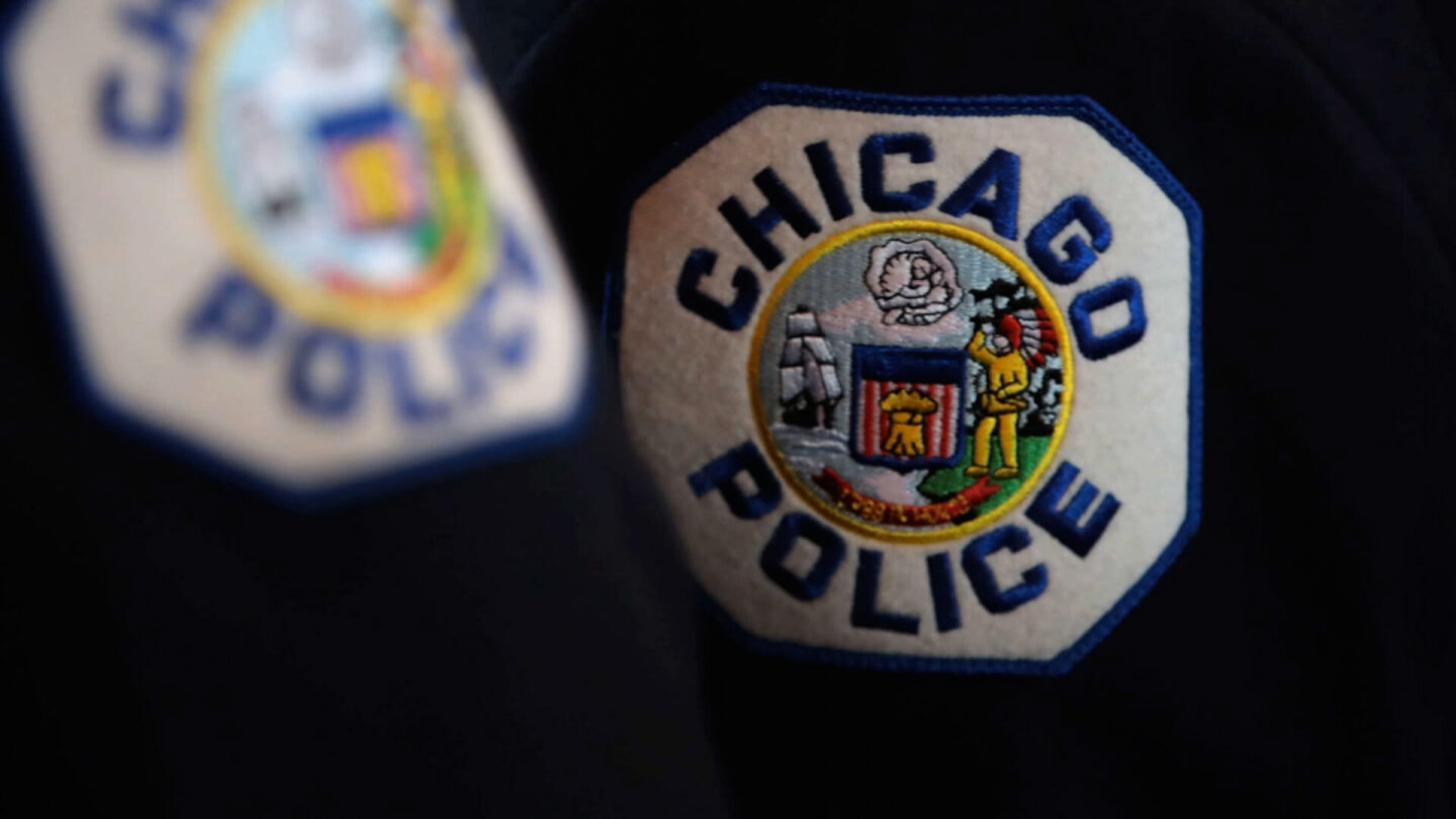 <i>Getty Images</i><br/>Up to half of Chicago's rank-and-file police officers could be placed on unpaid leave starting Friday because of a dispute between their union and Mayor Lori Lightfoot over a city requirement for officers to disclose their vaccine status.