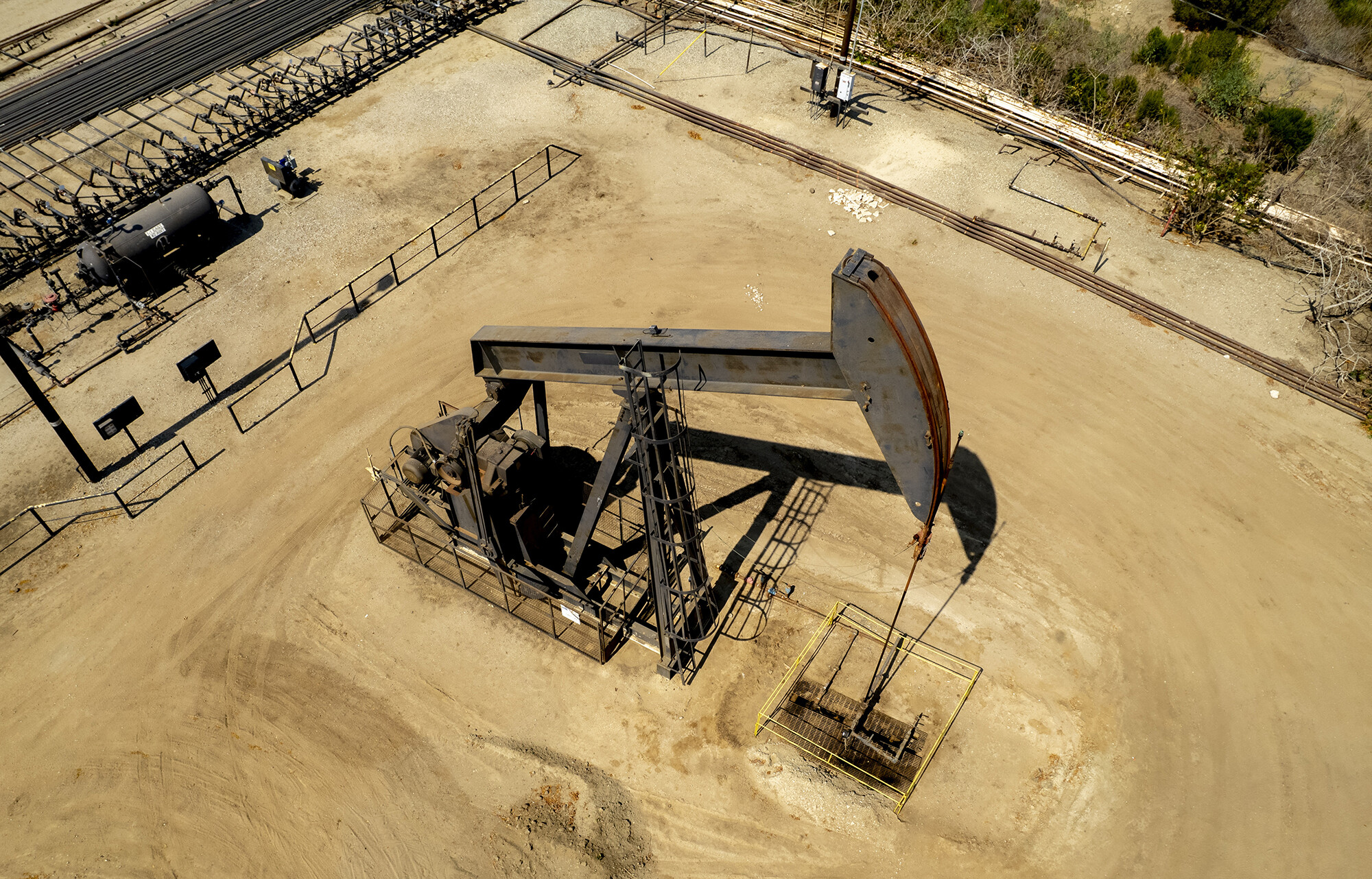 <i>Kyle Grillot/Bloomberg/Getty Images</i><br/>Energy demand is back today as the world economy reopens -- but supply simply hasn't kept up. An oil pump jack operates at the Inglewood Oil Field in Culver City