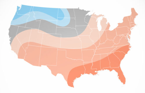 Cooler and wetter conditions are forecast across portions of the northern tier of the country